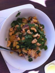 Leftover roast vegetable Thai inspired curry