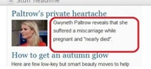 Wouldn't it be more news worthy if she suffered a miscarriage without being pregnant?