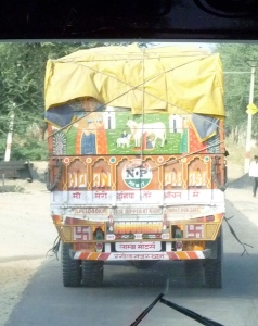 One of the many brightly painted Rajasthani trucks