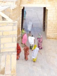 Women in their beautiful saris