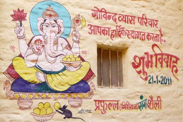 Ganesha painting on wall