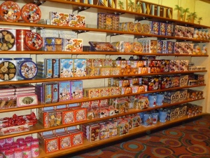Tokyo Disney tins of biscuits and snacks