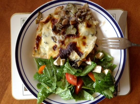 OMG vegetarian lasagne - delish!