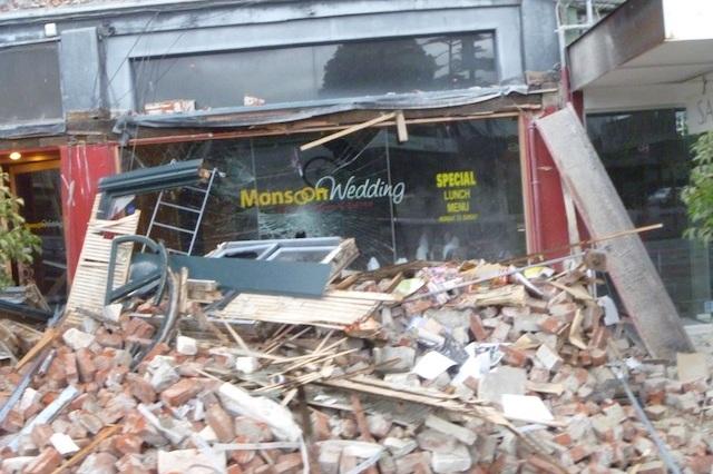 Earthquake damage following the February 22nd earthquake