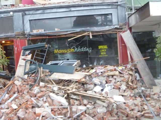 Earthquake damage following the February 22nd earthquake