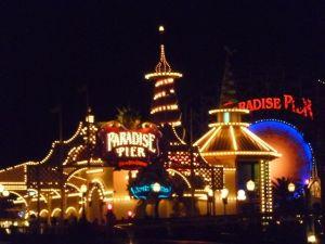 Paradise Pier at night