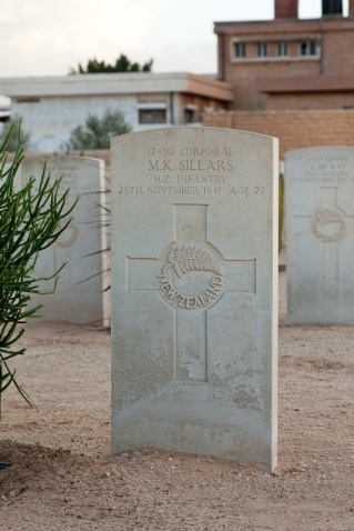 Keith Sillars war grave at Halfaya Sollum War Cemetery (Egypt)