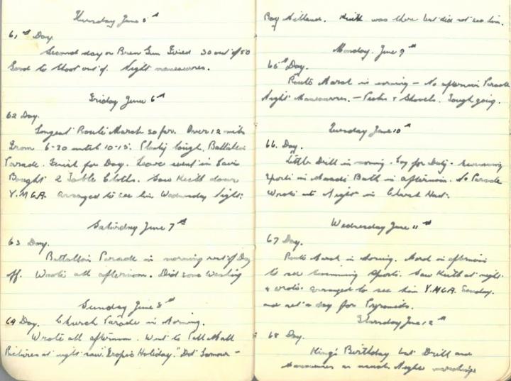 Thursday June 5th - Thursday June 12th 1941