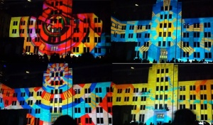 Projection on Museum of Contemporary Art Australia
