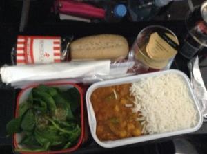 Qantas curry lunch