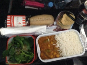 Qantas curry lunch