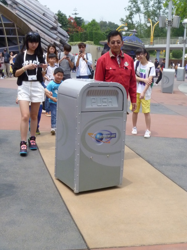 Push the Trashcan is alive and well in Hong Kong