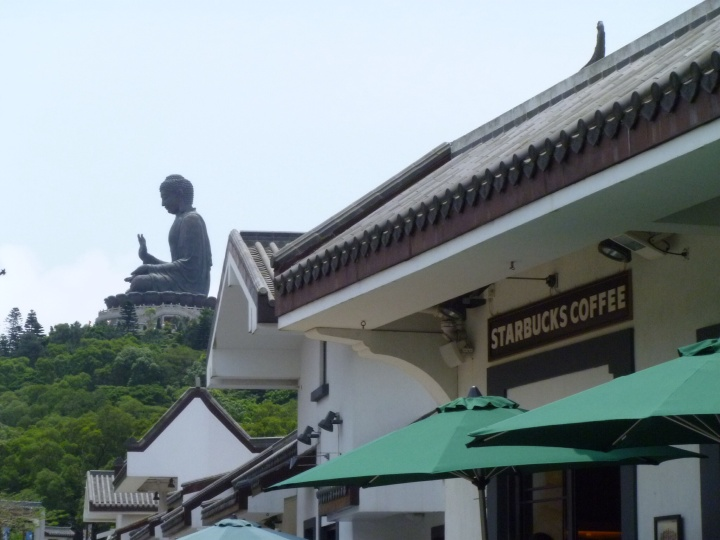 Ngong Ping Village - Tian Tan Buddha & ... Starbucks