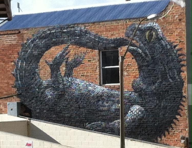 Tuatara Street Art