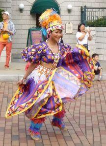 Colourful parade dancer