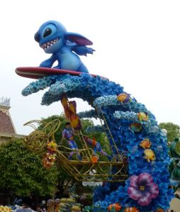 Stitch surfing (he's very popular in the Asian theme parks)