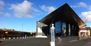 Toitū Otago Settlers Museum next to the Taeiri Gorge rail cars