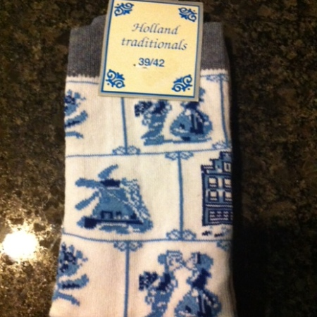 Blue & White Delft socks