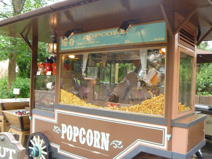 Popcorn carts usually sell two flavours