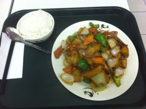 Potato, Eggplant and Capiscum from International Foodcourt