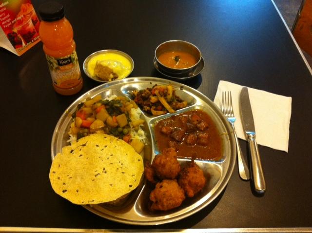 Thali Platter from the Hare Krisna Restaurant on K' Road