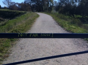 """Not Far Now!""  - to what?"