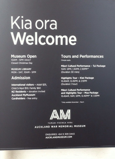 The Auckland War Museum Hours and Times