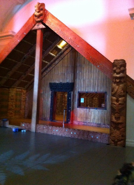 Maori Display, note you need to leave your shoes at the entrance