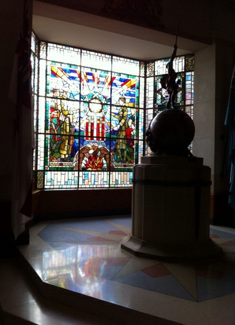 Beautiful stained glass memorial window