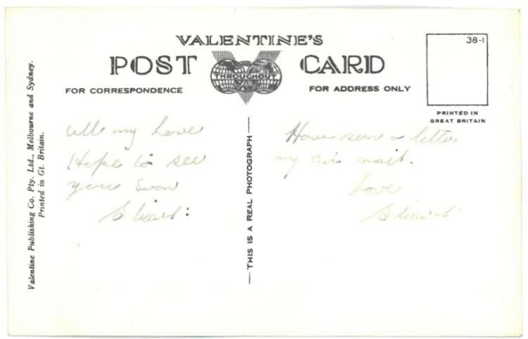 1940s Australian Postcard of a Koala