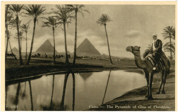 Cairo - The Pyramids of Giza at Floodtime