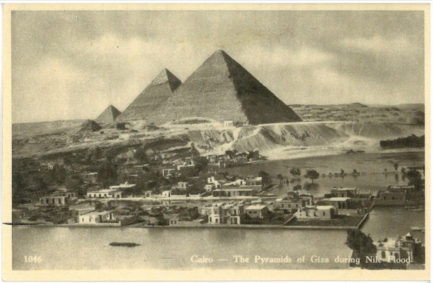 Cairo - The Pyramids of Giza during Nile Flood