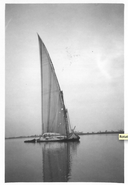Dhow sailing on Nile - Cairo January 25th 1942