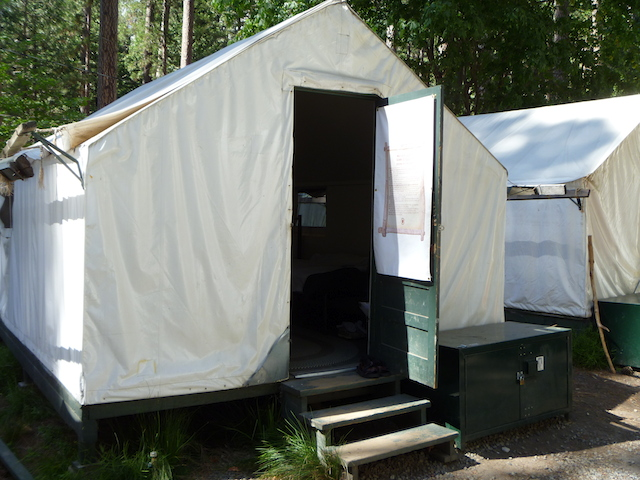 Canvas Tent Cabin at Curry Village, Yosemite National Park