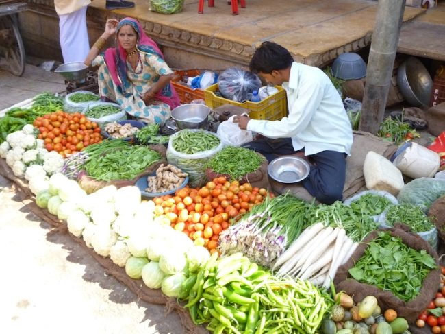 Vegetable sellers at a market