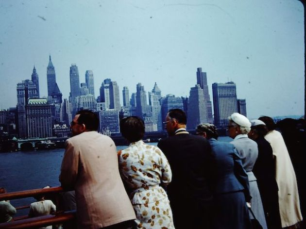 New York 1970ish - but not sure who's slide this is?  As far as we know, my Grandparent's never went to the USA.
