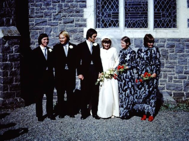 Someone's wedding - my Aunt second from the right - get a load of that 1970s bridemaid's outfit!  :-)
