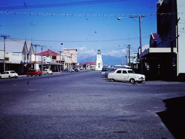 Main street of Hokitika - January 1973