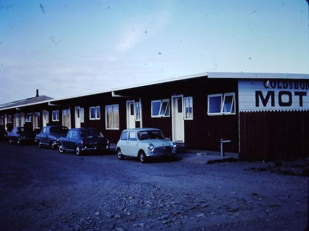 Love the cars outside the motel - January 1973
