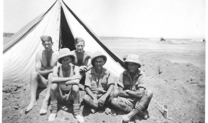 Boys outside tent - Kibret - August 4 1941