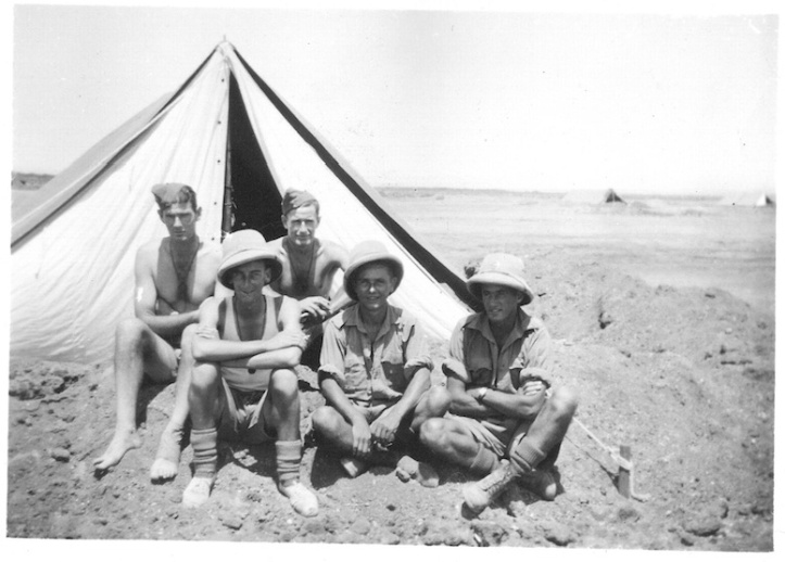 Boys outside tent - Kibret - August 4 1941