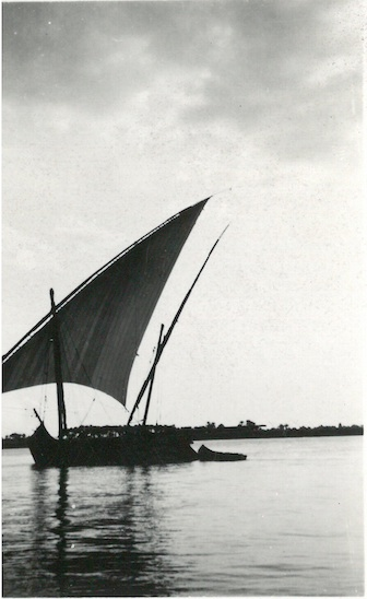 Egyptian Dhow sailing on the Nile