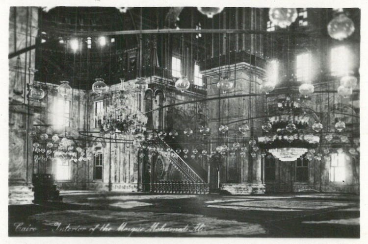 Interior of the Mosque of Mohammed Ali