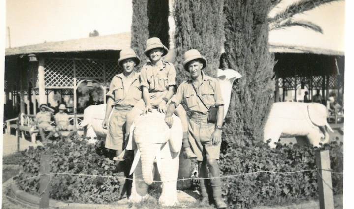 J Ericson - R Radcliff & Myself (Stuart Sillars) - Japanese Gardens - Helwan June 29 1941