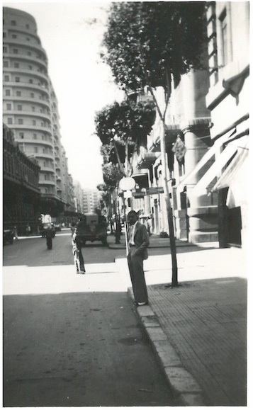Looking down Sharia Madalegh(?) - Cairo July 23 1941