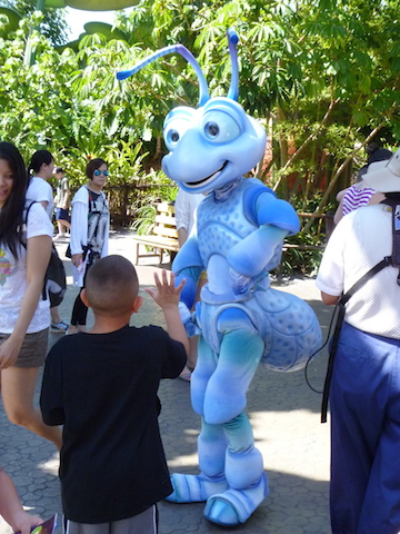 Meet your favourite A Bug's Life characters such as Flik