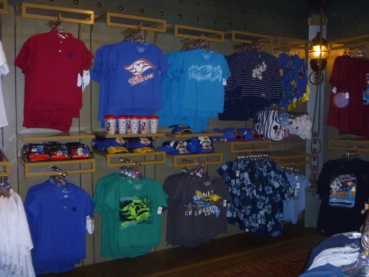 Cruise line specific merchandise