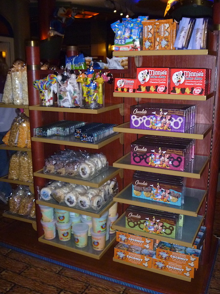 Sweets, candies and snacks (because you need more food when you are on a cruise...)