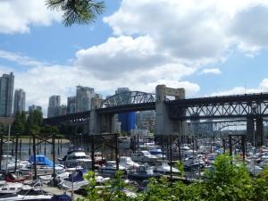 Burrard Street Bridge from the walkway