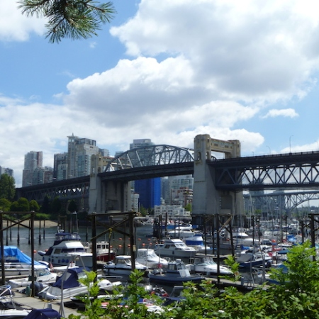 Burrard Street Bridge from the walkway